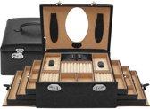 Sieradenkoffer WindRose Merino 3683 Zwart met 6 lades