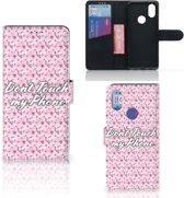 Xiaomi Mi A2 Portemonnee hoesje Flowers Pink DTMP
