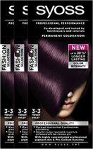 Syoss Colors Creme 3-3 Trendy Violet Voordeelverpakking