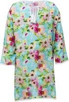 Snapper Rock Tuniek meisjes - Watercolor Floral - Blauw/Roze - maat 104-110