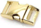 Paracord  metalen buckle / sluiting - Gold - 40mm- 3 stuks