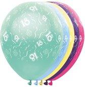 Ballonnen 18 jaar - metallic - feestballon - 5 stuks