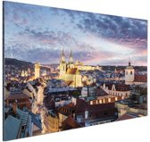 Verlicht Praag Aluminium 60x40 cm - Foto print op Aluminium (metaal wanddecoratie)