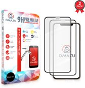 OMAZU 3D Tempered Glass Screenprotector, Apple Iphone X / XS / 11 Pro (Full Screen) 2-Pack