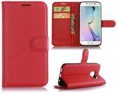 Hoesje geschikt voor Samsung Galaxy S7 Edge, 3-in-1 bookcase, rood