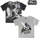T-Shirt met Korte Mouwen voor kinderen Star Wars 1514 Zwart (maat 4 jaar)