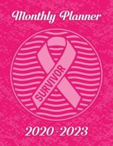 Breast Cancer Awareness Ribbon Survivor: 2020-2023 Four Year Monthly Planner Calendar, Notebook and More