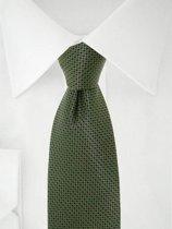 Stropdas groen/zwart dots