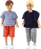 Lundby poppenhuis Set - Twee jongens