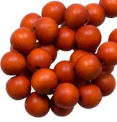 Houten Kralen Intense Look (6 mm) Rusty Orange (280 stuks)