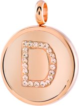 Lucardi - Just.D Daydream - JUST.D Stalen hanger roseplated letter kristal