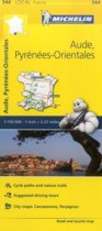 Aude, Pyrenees-Orientales - Michelin Local Map 344