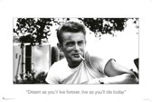 Poster-James Dean-quote-Dream as if you'll live forever-61x91.5cm