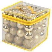 Kerstboom decoratie kerstballen goud 77 stuks 4 / 6 / 8 cm