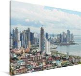 Uitzicht over Panama Stad Canvas 140x90 cm - Foto print op Canvas schilderij (Wanddecoratie woonkamer / slaapkamer)