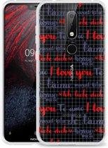 Nokia 6.1 Plus Hoesje I Love you