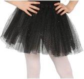 Petticoat/tutu rokje zwart 31 cm voor meisjes - Tule onderrokjes zwart voor kinderen