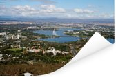 Luchtfoto van Canberra en Lake Burley Griffin Poster 120x80 cm - Foto print op Poster (wanddecoratie woonkamer / slaapkamer)