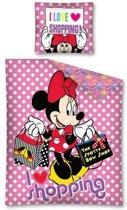Minnie Mouse - Dekbedovertrek - Eenpersoons - 140x200 cm + 1 kussensloop 70x80 cm - Multi