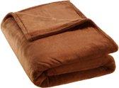 Super zachte deken bruin 220 x 240cm 400949