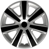 Autostyle Wieldoppen Vr 13 Inch Abs Zilver/zwart Set Van 4