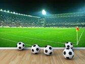 Fotobehang Voetbalstadion | Groen | 104x70,5cm