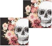 Halloween Servetten Day of The Dead Versiering 12 stuks