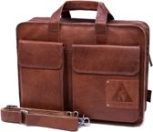 "ORANGE FIRE Laptoptas business tas 15,6"" Twinner cognac"