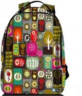Sleevy laptop rugzak 17,3 Deluxe kleurrijke symbolen - schooltas