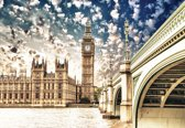 Fotobehang Houses of Parliament City | XL - 208cm x 146cm | 130g/m2 Vlies