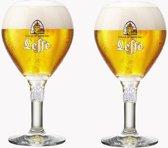 Leffe bierglazen 2 stuks nieuwe editie bier speciaalbier glas 2 keer 25 cl