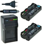 ChiliPower 2 x NP-F550 accu's voor Sony - inclusief oplader en autolader