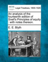 An Analysis of the Fourteenth Edition of Snell's Principles of Equity