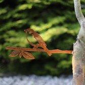 Huismus Cortenstaal - By Aimy Birds - 34,3 x 14,6 cm BxH