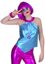 Disco Fever Top Blue | vrouw | one size