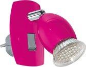 EGLO Brivi Stekkerspot - 1 Lichts - Roze