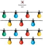 Gekleurde lichtsnoer LED uitbreidingsset voor buiten 10 meter - multi colored party lights - IP44 lichtketting