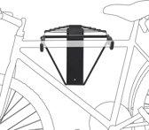 relaxdays Ophangsysteem voor 2 fietsen - Ophang systeem fiets - Houder muur - Wandmontage.