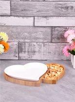 Paci sener Snack- & Tapasschaal - Porselein/Bamboe - Hartvorm