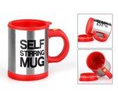 Zelf roerende beker - Zelf roerend mok - Mok - Beker - Koffie mok - Speciale mok - 300 mL - Rood