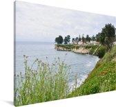 De kustlijn van het bekende Santa Cruz Californië Canvas 180x120 cm - Foto print op Canvas schilderij (Wanddecoratie woonkamer / slaapkamer) XXL / Groot formaat!