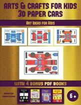 Art Ideas for Kids (Arts and Crafts for kids - 3D Paper Cars)