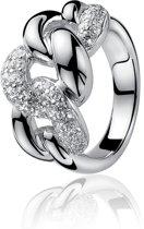 Zinzi - Zilveren Gourmet Ring - Zirkonia - Maat 54 (ZIR414-54)