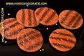 Hamburger, gegrild, 6 stuks - Ø 100 mm - vleesdummy