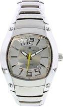 RK0019 Ralph Klein herenhorloge met zilverkleurige stalen band - 35 mm - Leer - Wit