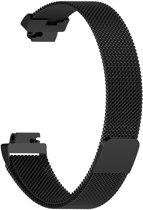 Milanees bandje Zwart geschikt voor Fitbit Inspire en Inspire HR
