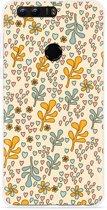 Honor 8 Hoesje Doodle Flower Pattern