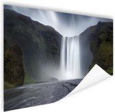 Waterval Poster 90x60 cm - Foto print op Poster (wanddecoratie woonkamer / slaapkamer)