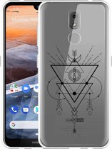 Nokia 3.2 Hoesje Abstract Moon Black