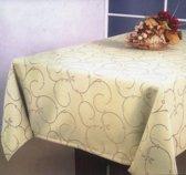 Luxe Stoffen Tafellaken - Tafelkleed - Tafelzeil - Hoogwaardig - Ovaal - All Over Beige - 150 x 240 cm